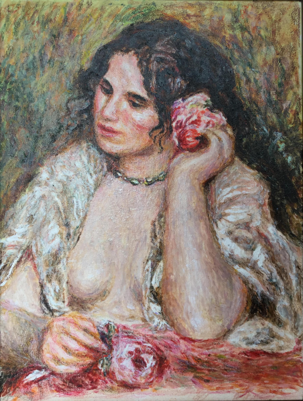 Dziewczyna z różą - kopia Renoire