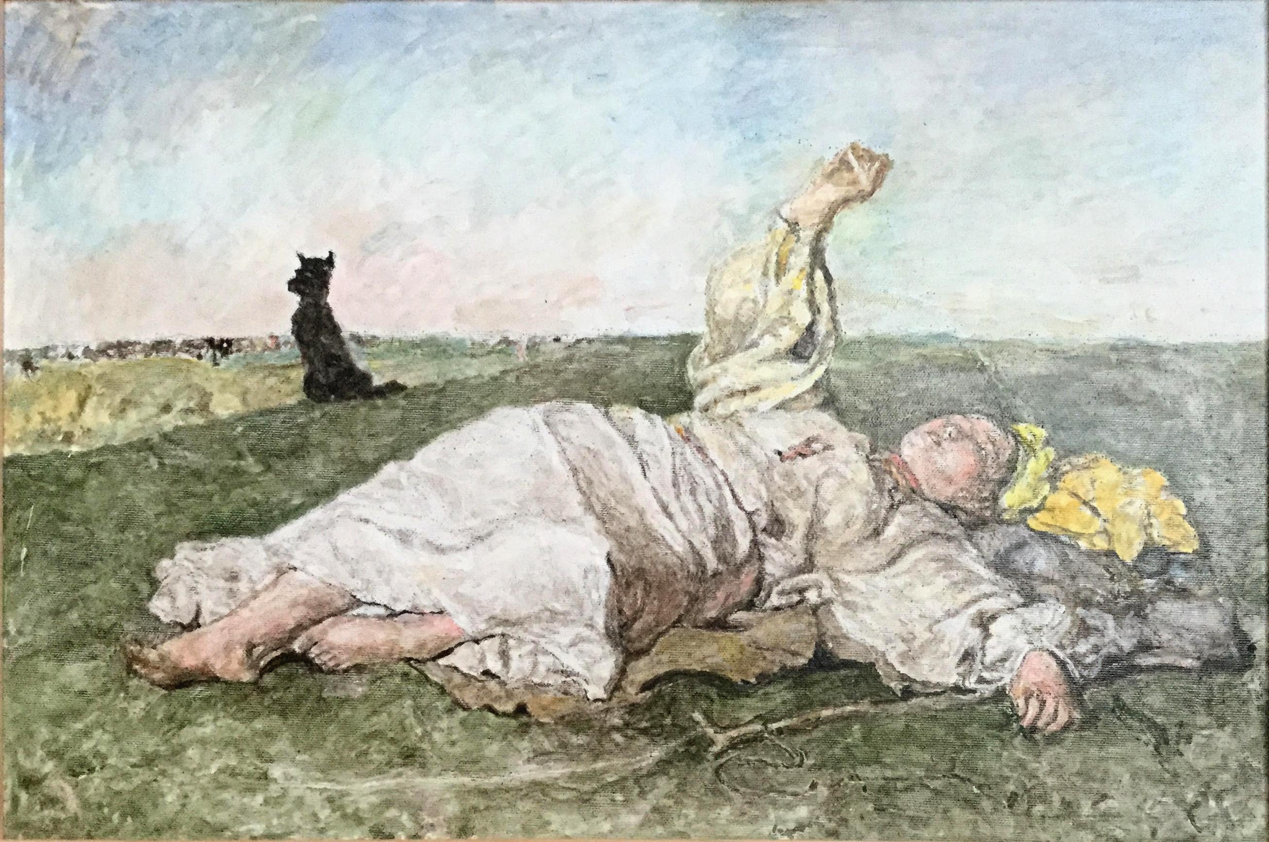 Babie lato - kopia obrazu Chełmińskiego