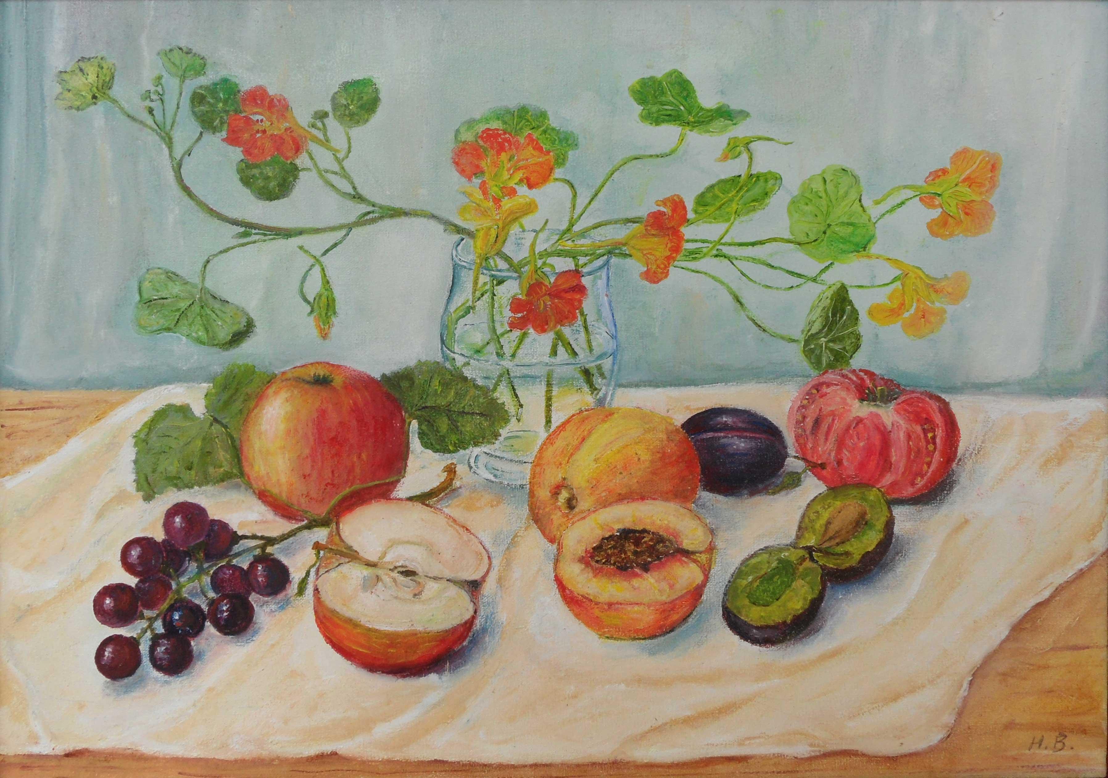 Owoce i nasturcje