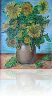 Słoneczniki w dzbanie