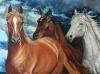 Konie w czasie burzy